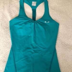 Oakley teal work out top